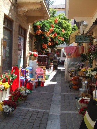 Shopping in Aegina, Greece