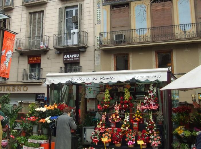 Las Ramblas flower stall