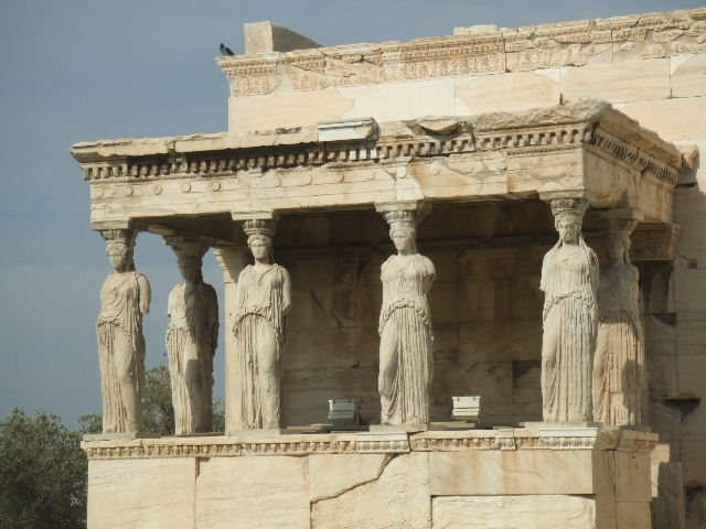 Kore Porch (or Caryatids' balcony), Acropolis, Athens