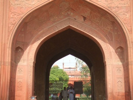 Gateway at the Red Fort, Delhi