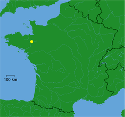 Location of Rennes