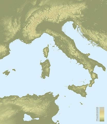 Topographic map - Italy