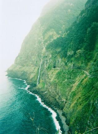 Wedding veil waterfall, Madeira